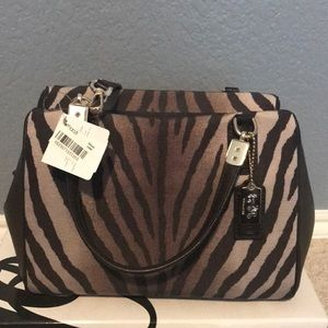 Coach Mini Zebra purse